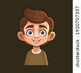 cute young man avatar character.... | Shutterstock .eps vector #1920707357