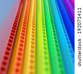 stack of colorful corrugated... | Shutterstock . vector #192071411