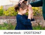 Little Baby Girl Kiss Her...