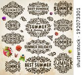 retro elements for summer... | Shutterstock .eps vector #192073301