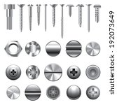 Screws  Nuts And Rivets Icons...