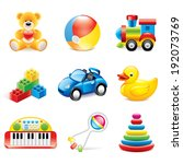 colorful toys icons detailed... | Shutterstock .eps vector #192073769