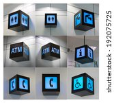 Small photo of All Set of airport sign
