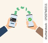 mobile payments using... | Shutterstock .eps vector #1920760211