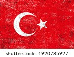 vector old dirty flag of turkey. | Shutterstock .eps vector #1920785927