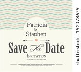 invitation or announcement card | Shutterstock .eps vector #192078629