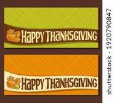 banner for thanksgiving day... | Shutterstock . vector #1920790847