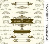 set of vintage decoration in... | Shutterstock .eps vector #1920800927