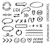 set of doodles. arrows  lines ...   Shutterstock .eps vector #1920812951