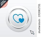 hearts sign icon. love symbol....