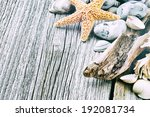 Marine Background With Pebbles...