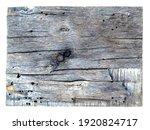 Dry Cracked Wood Background...
