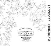 design of vintage floral card.... | Shutterstock .eps vector #192082715