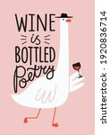vector illustration with goose... | Shutterstock .eps vector #1920836714