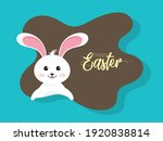 cute bunny cartoon for happy... | Shutterstock .eps vector #1920838814