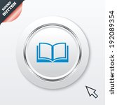 book sign icon. open book...
