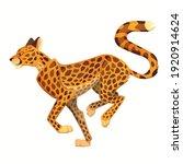 vector cartoon running cheetah. ... | Shutterstock .eps vector #1920914624