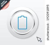 battery empty sign icon. low...