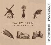 Set Of Farm Icons Vector...