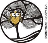 owl vector illustration | Shutterstock .eps vector #192096164