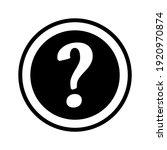 question mark round warning... | Shutterstock .eps vector #1920970874