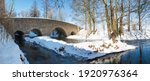 Wild River In Winter With Old...