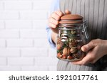 Woman Holding Jar With Aromatic ...