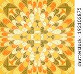 hand drawn ethnic orange... | Shutterstock .eps vector #192102875