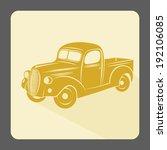 retro car icon. vintage style.... | Shutterstock .eps vector #192106085