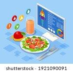 isometric diet programs  diet... | Shutterstock .eps vector #1921090091