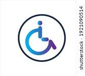 disability logo vector...   Shutterstock .eps vector #1921090514