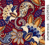 bright ethnic seamless pattern. ... | Shutterstock .eps vector #192109331