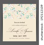 wedding invitation card with... | Shutterstock .eps vector #192112109