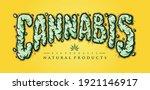 Cannabis Text Smoke Element...