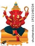 lord ganesha hindu god. graphic ...   Shutterstock .eps vector #1921148234