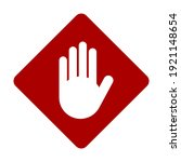 red stop hand palm block... | Shutterstock .eps vector #1921148654
