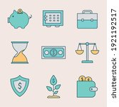 set of finance and invest icons ...   Shutterstock .eps vector #1921192517