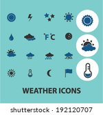 weather icons  signs set  vector