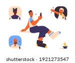 speaker in clubhouse app. audio ... | Shutterstock .eps vector #1921273547