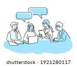 business meeting presentation...   Shutterstock .eps vector #1921280117