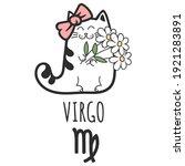 virgo sign of the zodiac  cat... | Shutterstock .eps vector #1921283891