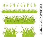 green grass set  isolated on...   Shutterstock .eps vector #192133484
