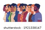 diverse people  multiracial ... | Shutterstock .eps vector #1921338167