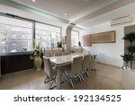 interior of a modern office  | Shutterstock . vector #192134525