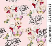 Romantic Cute Puppies Colorful...