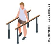 physical therapist walking icon....   Shutterstock .eps vector #1921358711