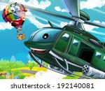 cartoon helicopter  ... | Shutterstock . vector #192140081