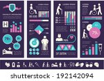 flat design vector disability... | Shutterstock .eps vector #192142094