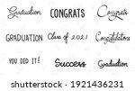 graduation drawn calligraphy... | Shutterstock .eps vector #1921436231