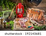 Fresh venison prepared for frying - stock photo